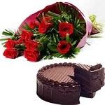 Bouquet + Cake